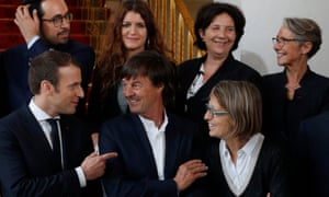 Marlène Schiappa (back row, second from left) with members of Macron's new government.