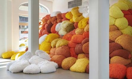 Saffron Sentinel by Sheila Hicks.
