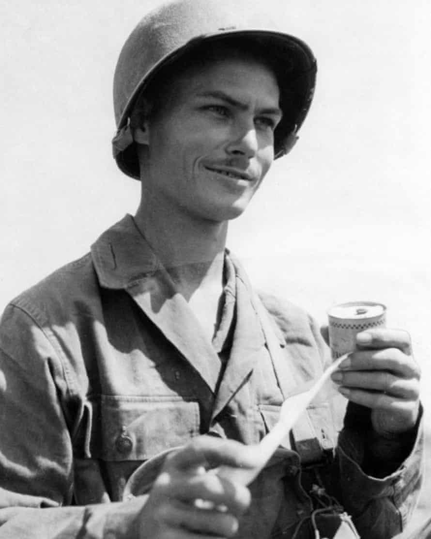 Desmond Doss on Okinawa in 1945.