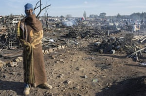Residents of the Plastic View slum in Pretoria, South Africa, have been left homeless after a huge fire