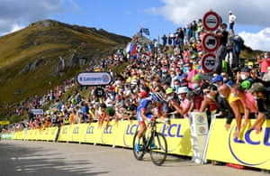 Valentin Madouas of Team Groupama - FDJ approaches the finish line of Stage 13 from Chatel-Guyon to Puy Mary.