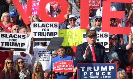 Donald Trump campaigning in Sanford, Florida.
