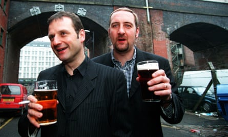 'I don't pay my licence fee to hear scummy northerners' … Mark Radcliffe with 'Lard' Riley in their breakfast show days.