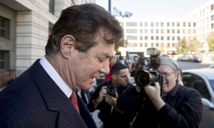 Paul Manafort departs federal court in Washington on Thursday.