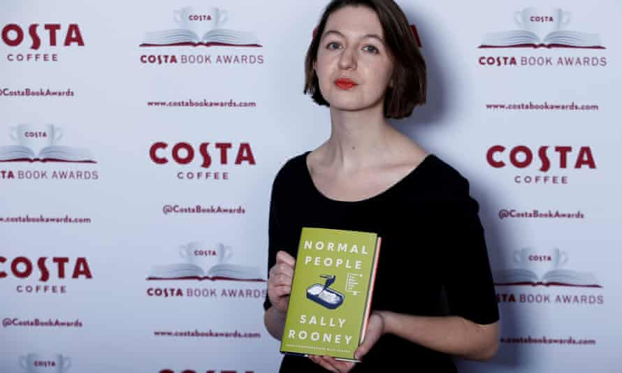 Author Sally Rooney poses for a photograph ahead of the announcement of the winner of the Costa Book Awards 2018 in London.