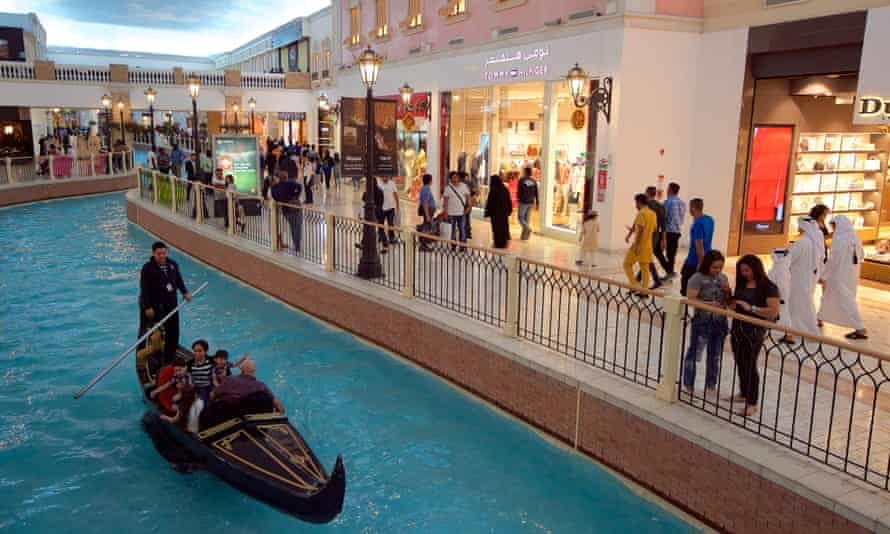 The glitzy Villagio Mall, which barred single men from entering during the Eid holidays, under a 'family only' policy.