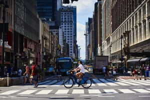 Pedestrians on 6th Ave. in New York, U.S., on Monday, June 22, 2020.