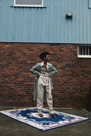 Jumpsuit, £730, and trenchcoat, £870, by Wanda Nylon (matchesfashion.com) Shoes, £360, by Dorateymur (farfetch.com) Earrings, £370, by All Blues (allblues.se)