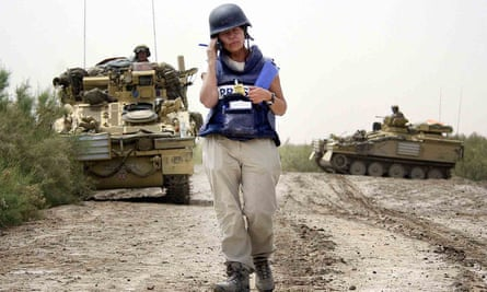 Audrey Gillan reporting during the Iraq war, recalled in On the Ground.