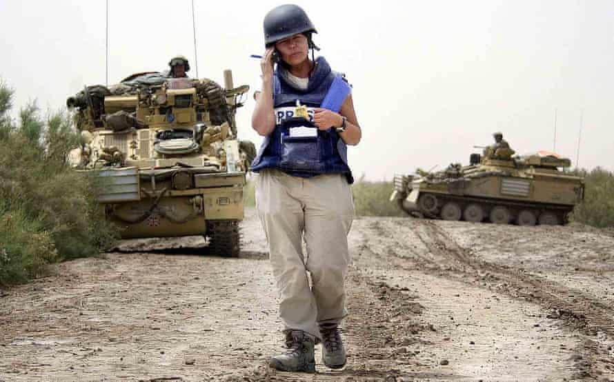 Embedded on the front line … Guardian journalist Audrey Gillan reporting from Iraq in 2003.