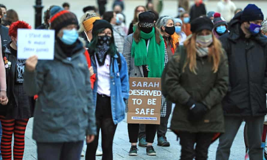 Women at a Reclaim the Streets vigil earlier this month in Nottingham
