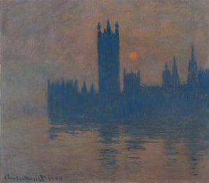 Houses of Parliament, Sunset, by Claude Monet.