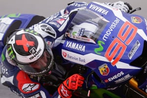 MotoGP rider Jorge Lorenzo takes a bend on his Movistar Yamaha YZR-M1, setting the fastest time on the final day at Sepang during pre-season testing in Malaysia.