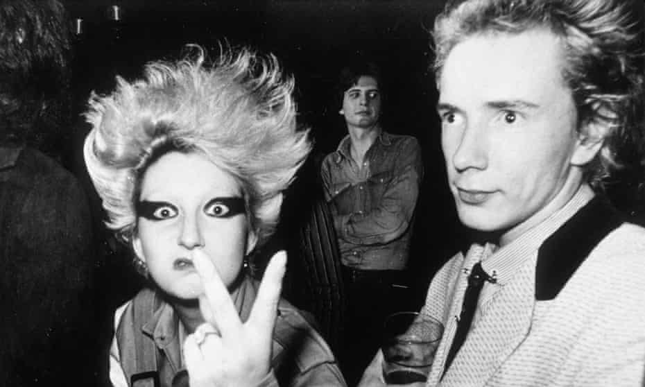 Jordan and Johnny Rotten in the 1970s