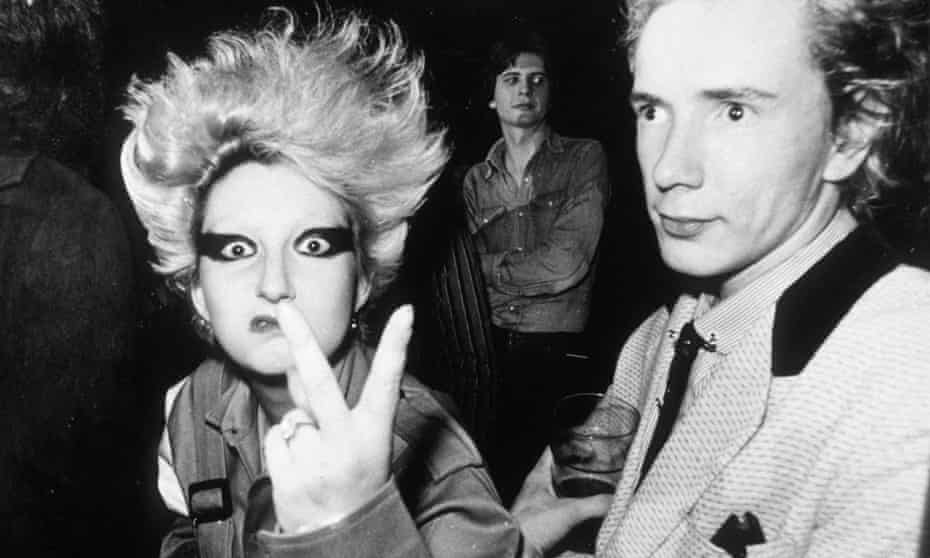 Jordan with Johnny Rotten.