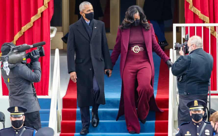 Michelle Obama's suit was also designed by Sergio Hudson