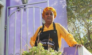 Faldela Tolker offers cookery lessons at her home in Bo-Kaap, Cape Town.