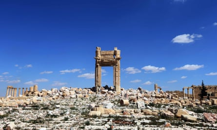 The remains of Temple of Bel Palmyra.