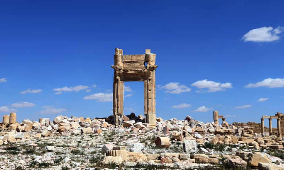 Remains of the Temple of Bel in Palmyra, once a Hellenistic place of worship, converted to a Christian church in the Byzantine era.