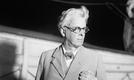 William Butler Yeats shown as he arrived at New York in 1932.