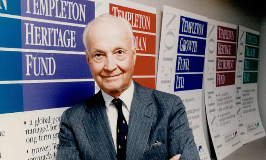 John Templeton pictured in 1990.
