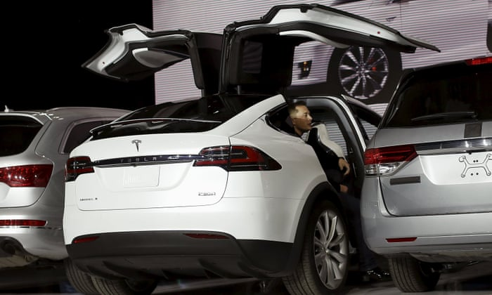 Tesla Model X Elon Musk Launches First All Electric Suv