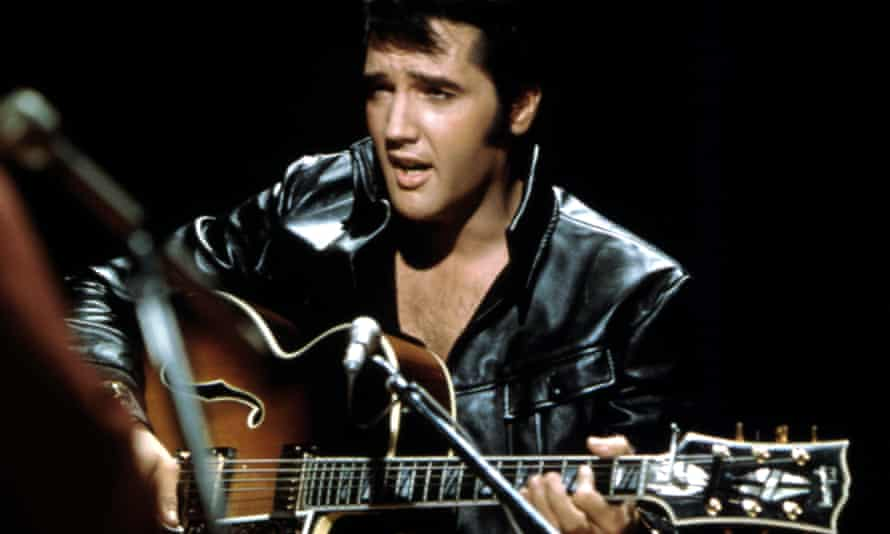 Elvis Presley performing in Burbank, California, in June 1968