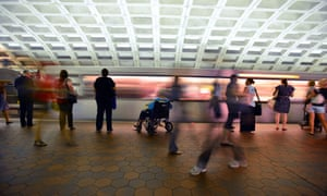 The Washington DC Metro, built in the 1970s with greater accessibility in mind than many of its Victorian counterparts, such as the London underground.