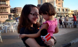 Yuan Wenyi, the chief international correspondent for Shanghai's Oriental TV, in Benghazi where she spent four months reporting on the 2011 civil war