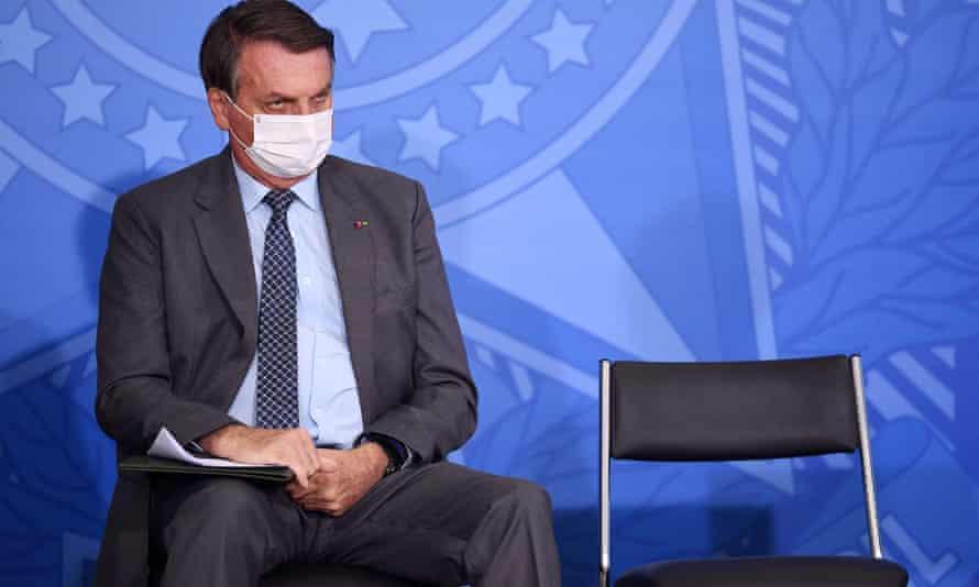 Brazilian president Jair Bolsonaro's popularity has plummeted during the pandemic.