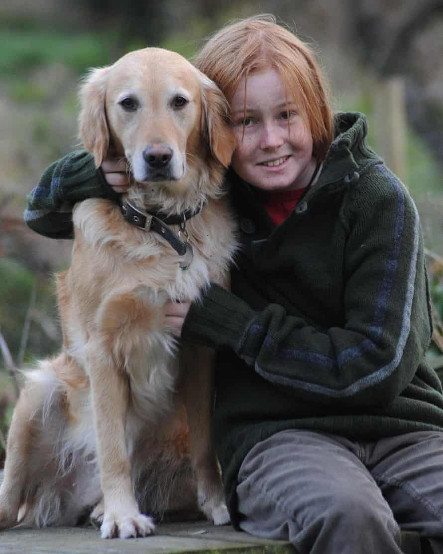 David aged 14 in 2010, with his dog Honey.