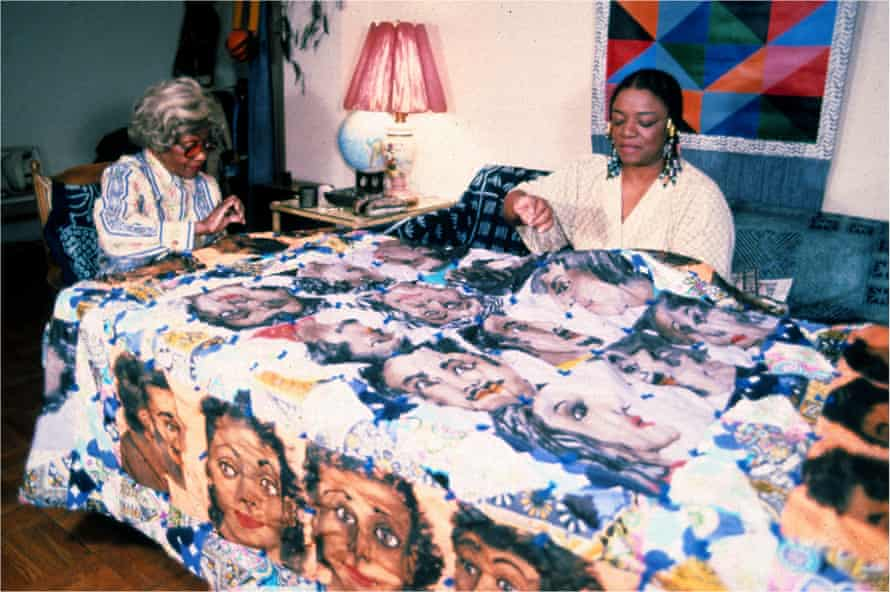 Faith Ringgold with her mother, Willi Posey Jones.