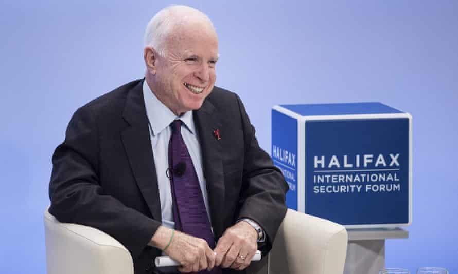 John McCain at the Halifax International Security Forum in Canada last November.