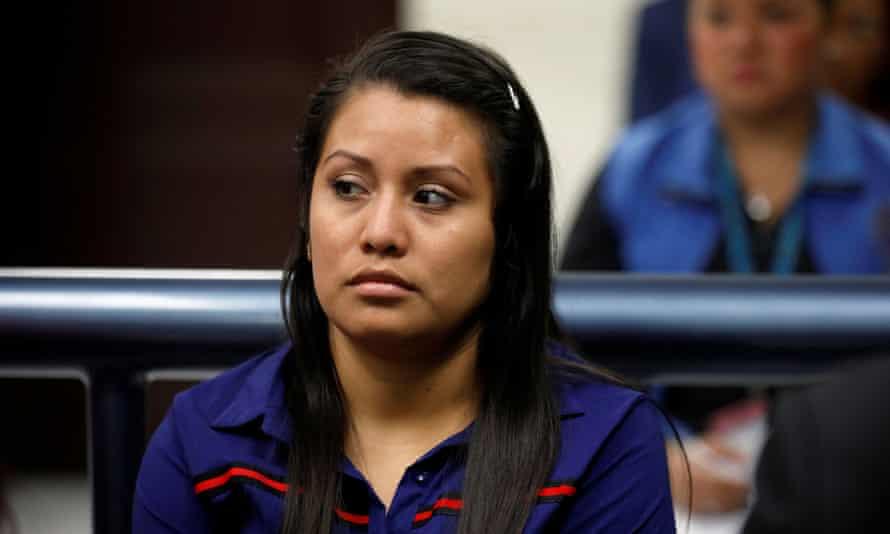 Evelyn Hernandez attends a hearing in Ciudad Delgado, El Salvador, in July.