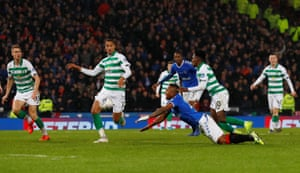 Frimpong pulls down Morelos in the area and receives a red card.