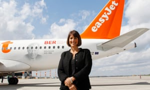 Carolyn McCall stands in front of an easyJet plane