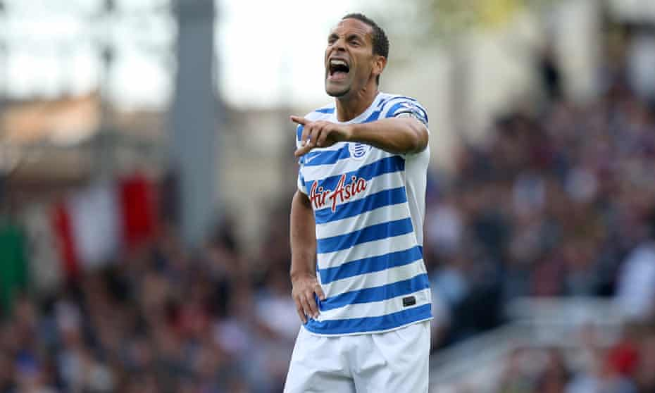 Rio Ferdinand, who was fined £25,000 by the FA for inappropriate language in a tweet.