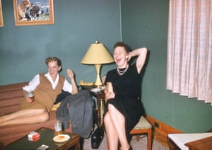 Two women drinking, smoking and laughing