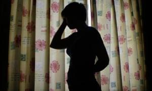 A person in silhouette