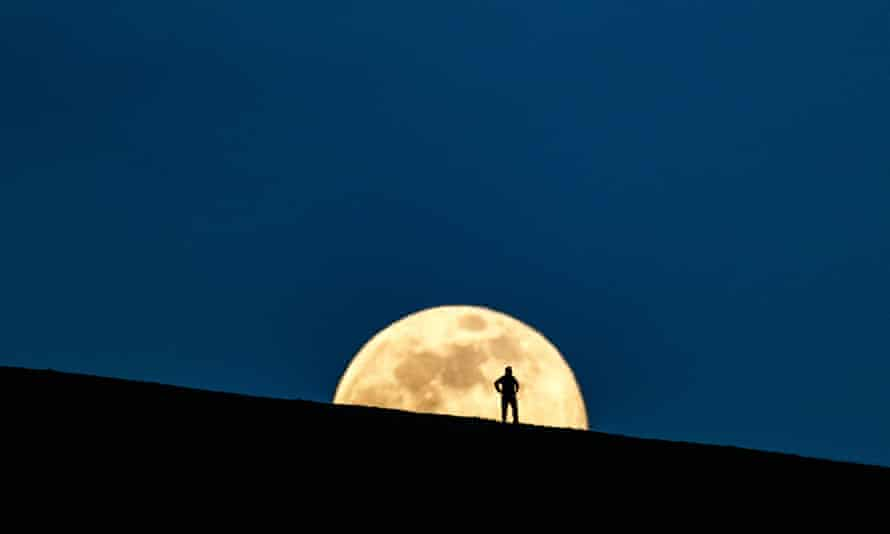 A view of the super moon in Ireland. Trump's order shows the US does not see space as a 'global commons'.