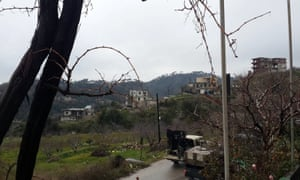 Pro-government forces in the town of Rabia
