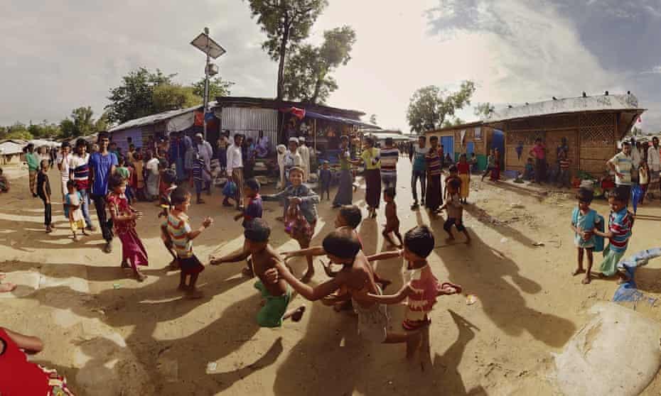 Rohinga children in a scene from Ai Weiwei's VR artwork Omni.