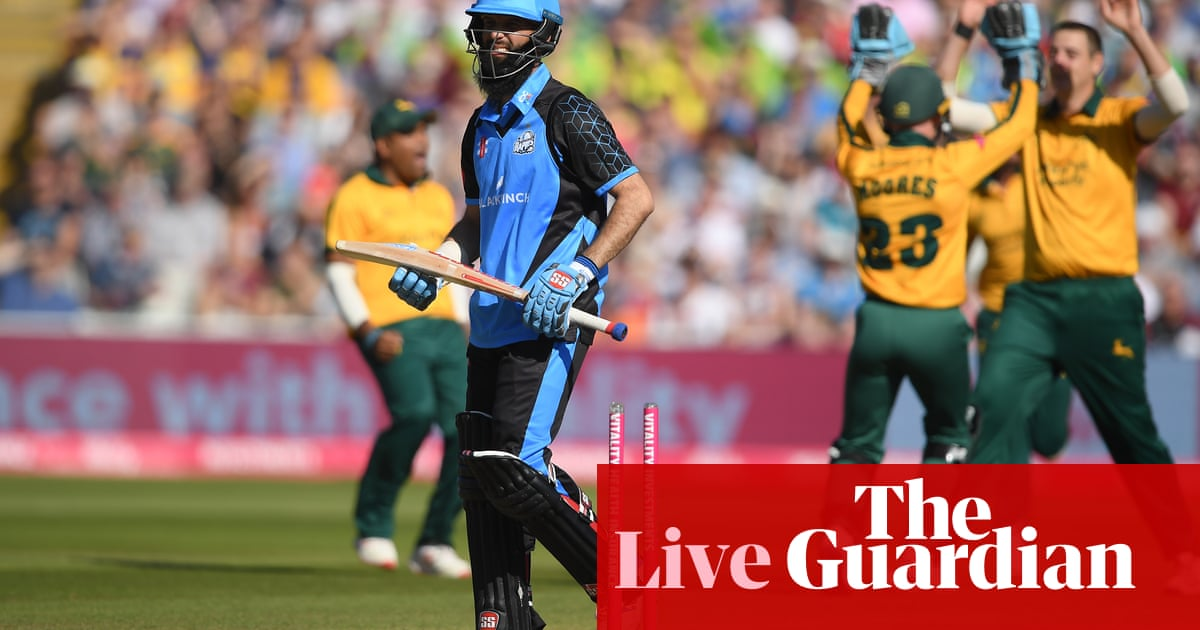 T20 Blast Finals Day: Worcestershire v Nottinghamshire in first semi – live!