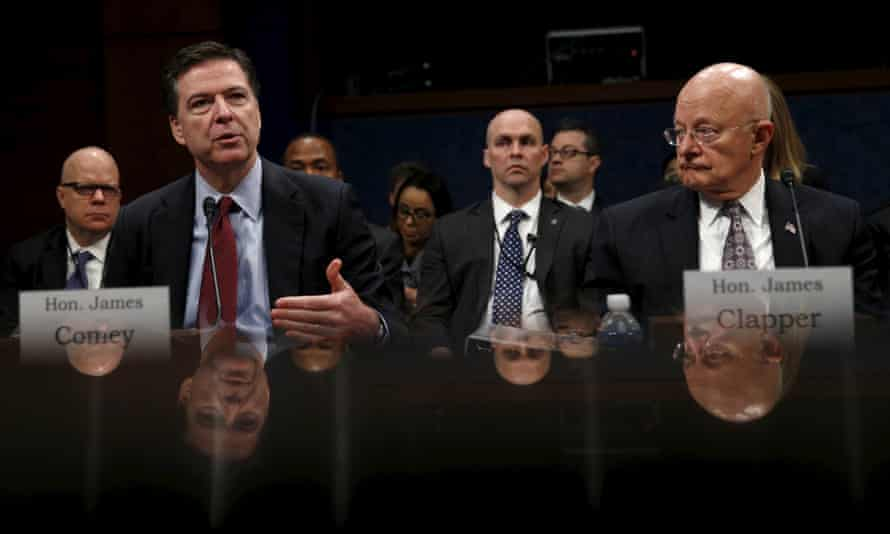 FBI director Comey with Clapper