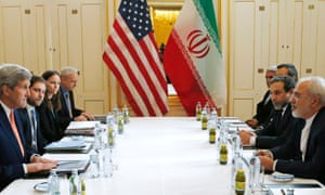 US Secretary of State John Kerry meets with Iranian Foreign Minister Javad Zarif, right, in Vienna in January.