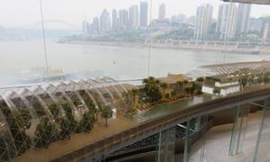 The prospective inside of Raffles City's skybridge.