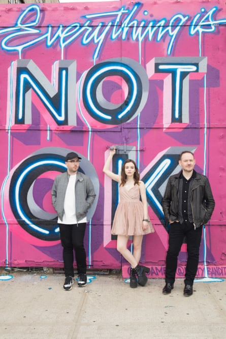 Martin Doherty, Lauren Mayberry and Iain Cook of Chvrches.