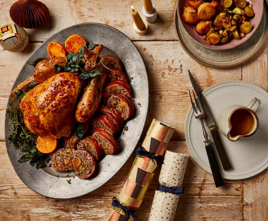 Thomasina Miers' roast turkey breast with fino stuffing.