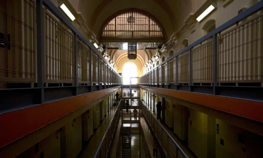 A cell block in Wandsworth prison.