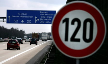 A 120km/h speed limit sign on an Autobahn near Bremen.